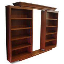 Дверь в хранилище в виде раздвижного книжного шкафа