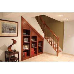 Встроенный книжный шкаф с электромагнитным замком для хранилища