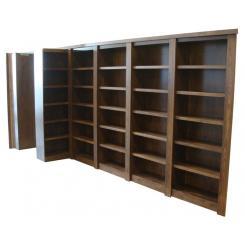 Встроенный в стену книжный шкаф с дверью в хранилище