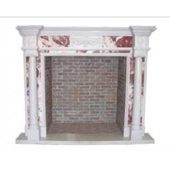 Камин в виде двери в тайную комнату с пневматической вращающейся системой
