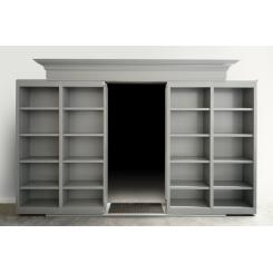 Дверь в тайную комнату из двухдверного раздвижного книжного шкафа