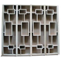 Встроенный  двухдверный складной книжный шкаф для хранилиша