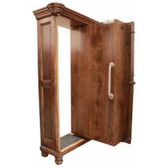 Тайная дверь в комнату паники в виде шкафа с электромагнитным замком