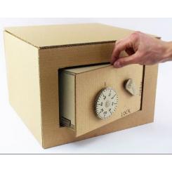 Нет времени на покупку сейфа? Сделай его сам! из картона :)