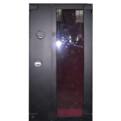 Оружейный сейф под заказ с бронебойным стеклом под 5 стволов ОР -СТ 5