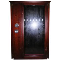 Оружейный сейф под заказ с отделкой из ценных пород древесины на 8 стволов ОР-Д-СТ 8