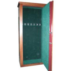 Оружейный сейф под заказ с отделкой из ценных пород древесины на 7 стволов