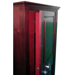 Офисный сейф под заказ с отделкой  из ценных пород древесины ОФ-М 2
