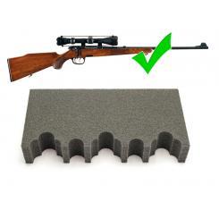 Ложементы для Ружей с Оптикой в Оружейный Сейф-Шкаф на 3-5 стволов