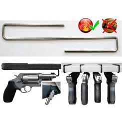 Держатель Пистолета №1 для полки 16-22мм на 1 пистолет из нержавеющей стали