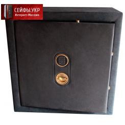 Сейф для драгоценностей и документов с отделкой алькантарой