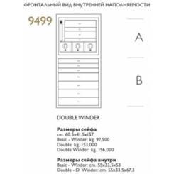 Шкаф-сейф Agresti Deсо MAGIA BIANCA DOUBLE WINDER (9499 double winder)