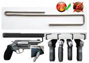 Держатель Пистолета №2 для полки до 4мм на 1 пистолет из нержавеющей стали
